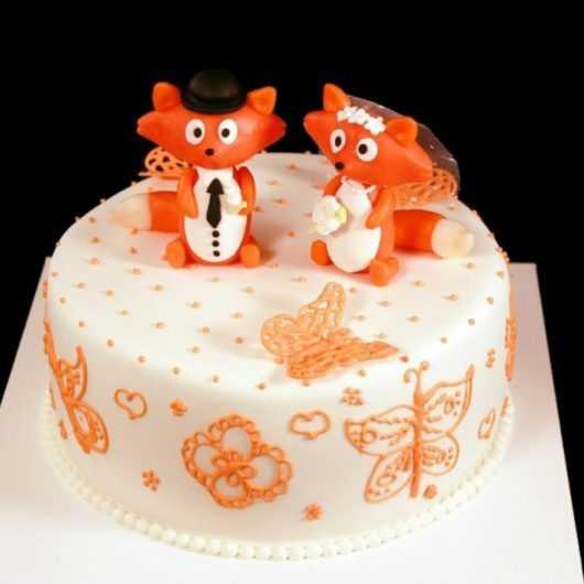 Свадебный торт Лис и Лисичка