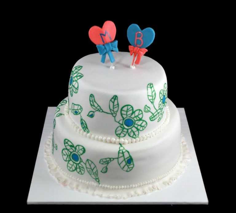 Свадебный торт в стиле Модерн