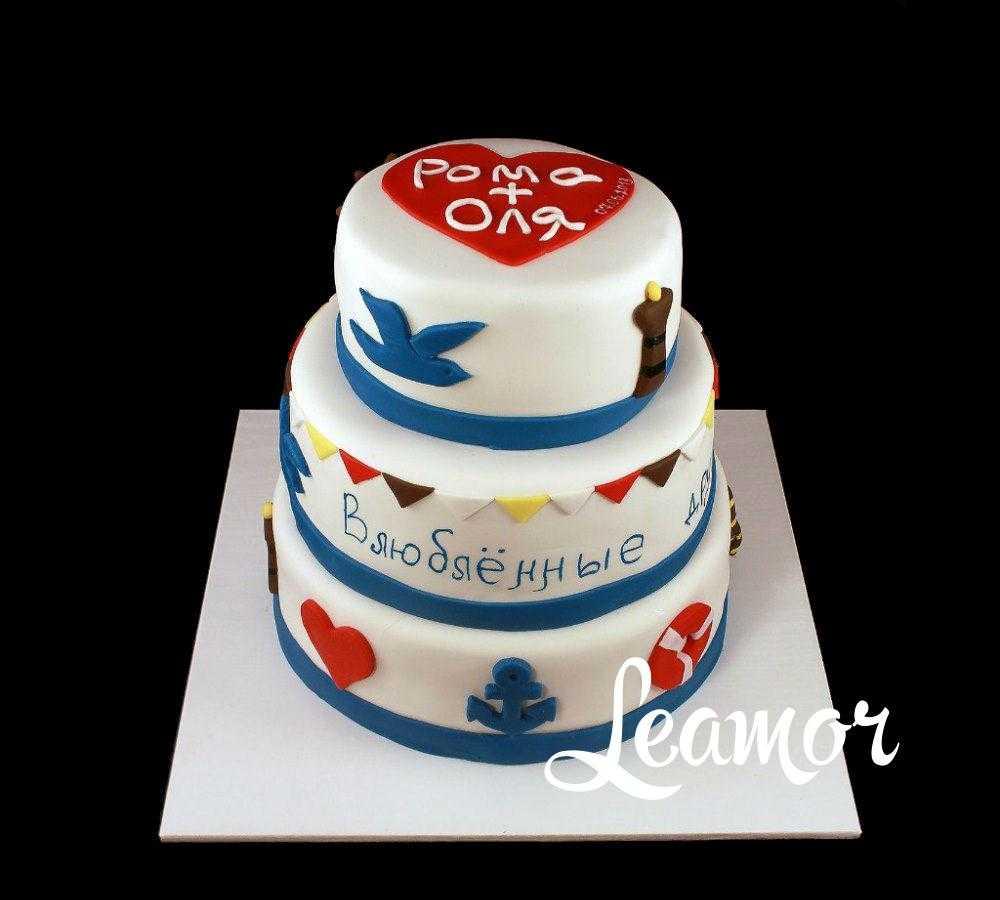 Свадебный торт на морскую тематику