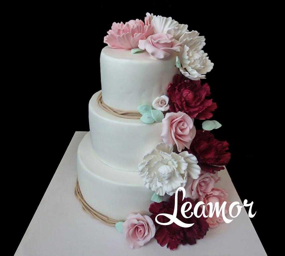 Свадебный торт с Розами и пионами