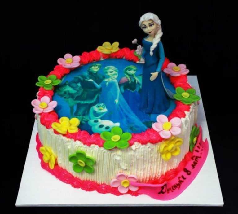 Торт с фотографией №9