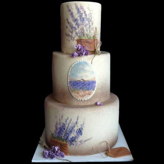 Свадебный торт Лавандовые поля