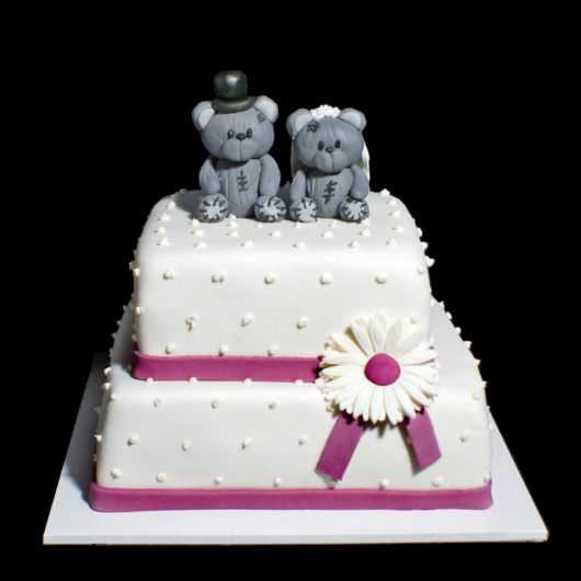 Свадебный торт с Мишками Тедди