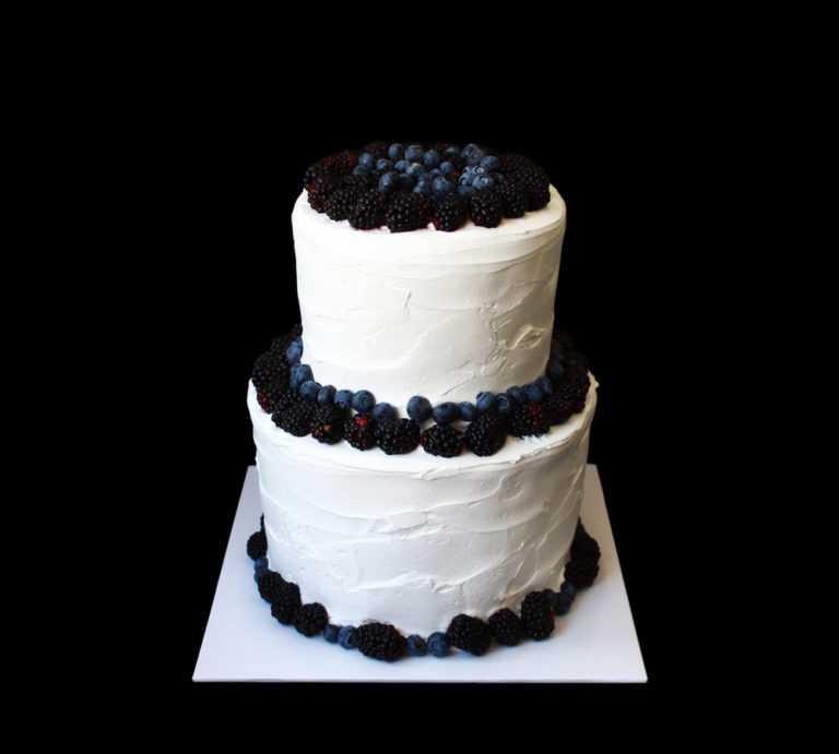 Свадебный торт Черный жемчуг
