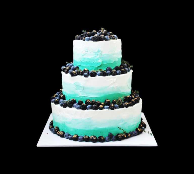 Свадебный торт Голубая лагуна