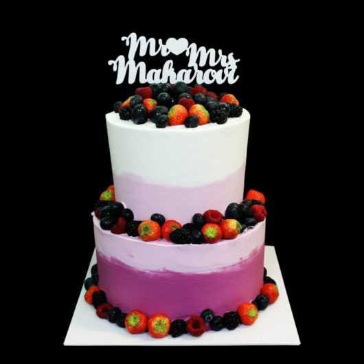 Свадебный торт Лиловый океан